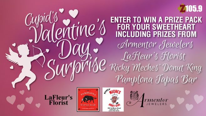 its cupids valentines day surprise with a chance to win the ultimate valentines day package personally